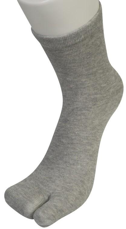 Tåsokker med to lommer japansk inspireret grå