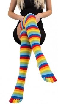 ToeToe Over Knee Knæsokker Med Adskilte Tæer, Rainbow