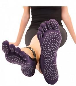 ToeToe Yoga & Pilates Foot Cover Anti-Slip Lilla