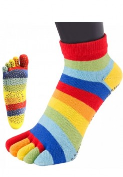 ToeToe Yoga & Pilates Anti-Slip Sole Trainer Rainbow