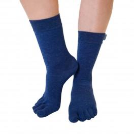 Blå ToeToe Uldstrømper Med Adskilte Tæer Str. 36-39